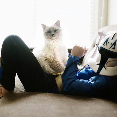 白猫飼い主